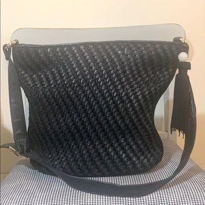 Ganson vintage woven leather handbag